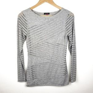 Vince Camuto | Gray Detailed Long Sleeve Size XS